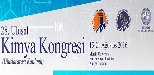 28. Ulusal Kimya Kongresi'ne Bu Yıl Mersin Üniversitesi Ev Sahipliği Yapacak