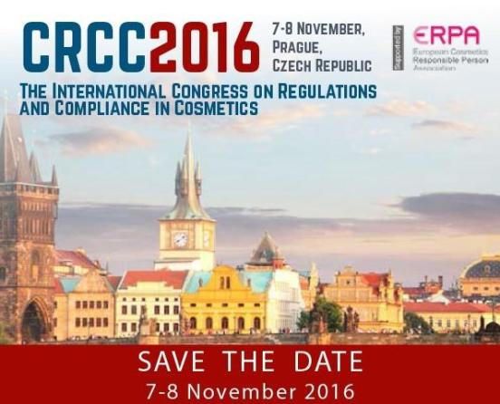 Kozmetikte Avrupa Mevzuatları ve Uyumluluk Konusundaki İlk Uluslararası Kongre (CRCC2016) 7-8 Kasım'da Yapılacak