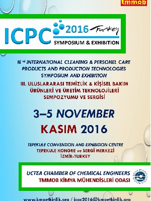 III. Uluslararası Temizlik & Kişisel Bakım Ürünleri ve Üretim Teknolojileri Sempozyumu ve Sergisi 3 Kasım'da İzmir'de Yapılacak1